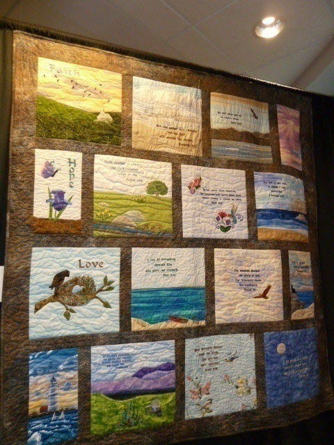 Heavenly Thoughts by JoAnne Harris.  Quilted by Pat Fitzpatrick